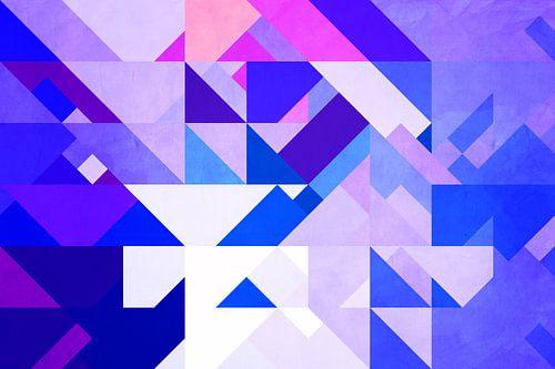 Triangle Design Blau von Markus Wegner