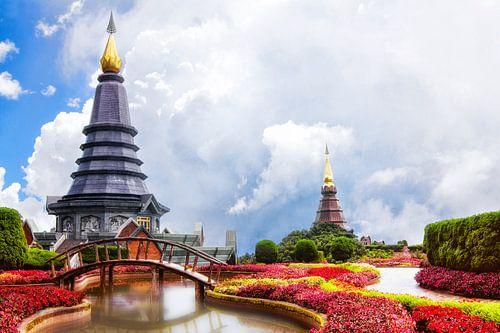 Koninklijke Boeddha Pagodes Thailand van Jaap van Lenthe