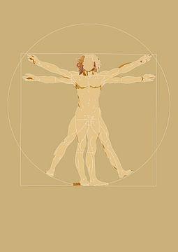 Der vitruvianische Mensch - Leonardo da Vinci von Debora Van Eijk