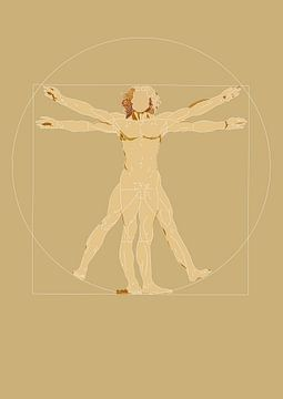 Vitruvian man - Leonardo da Vinci van Debora Van Eijk
