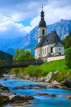 St. Sebastian Kerk, Ramsau, Berchtesgaden, Germany. van Henk Meijer Photography