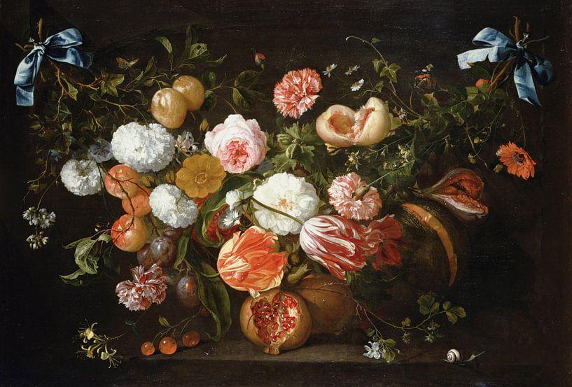 Een bloemenkrans, Jan Davidsz. de Heem van Bridgeman Masters