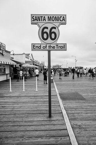 Eindpunt van Route 66  van Loek van de Loo