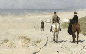 Morgenrit langs het strand, Anton Mauve