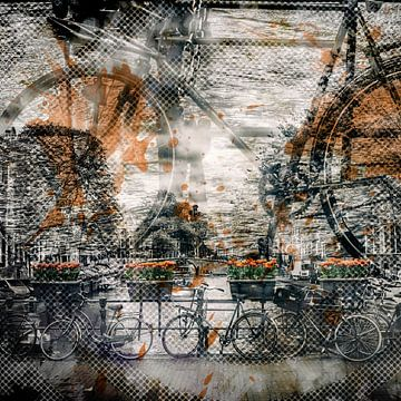 City Art AMSTERDAM Bicycles sur Melanie Viola