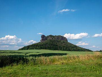 Uitzicht op de Lilienstein in de Sächsische Schweiz in Duitsland van Animaflora PicsStock