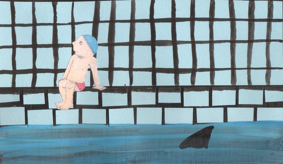 Haaienbad van Sandrine Lambert