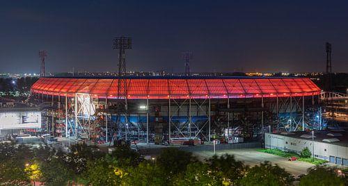 "Het Feyenoord Stadion ""De Kuip"" in Rotterdam met rode ring"