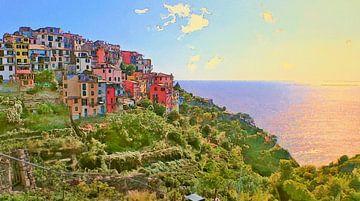 Cinque Terre - Corniglia - Italië van Dirk van der Ven
