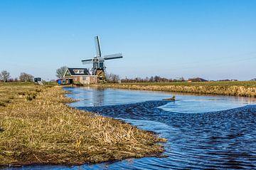 Achthovense Molen bij Leiderdorp van Gijs Rijsdijk
