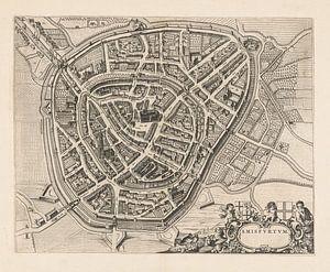 Plattegrond van Amersfoort, anno 1652