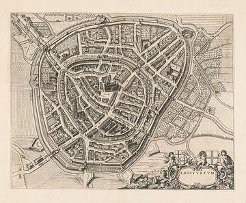 Plattegrond van Amersfoort, anno 1652 van Gert Hilbink