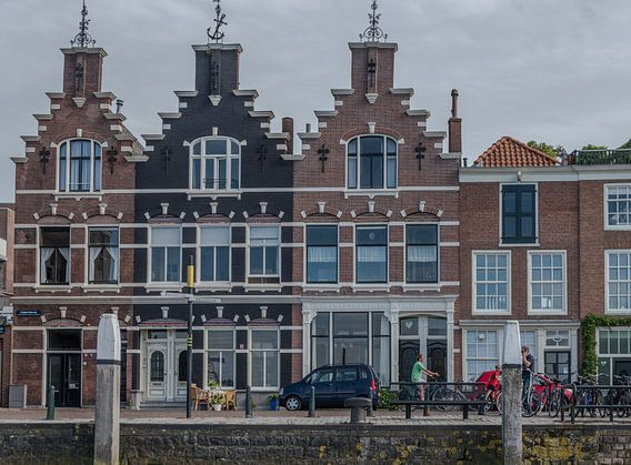 Traditionele bouw van huizen in Dordrecht.
