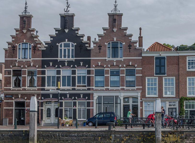 Traditionele bouw van huizen in Dordrecht. van Elbertsen Fotografie