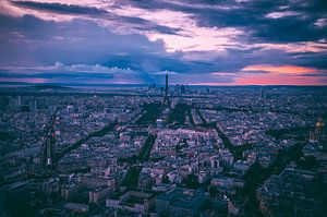 Parijs bij zonsondergang