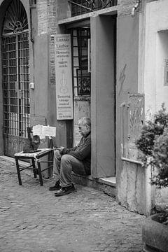 Rome | Zwart/wit fotografie in stad | Stedenfotografie van heidi borgart