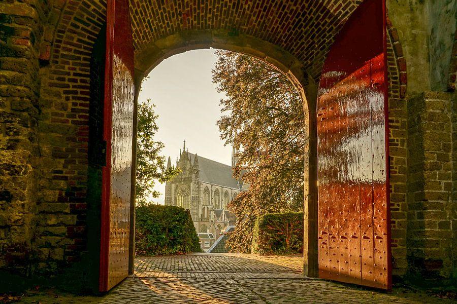 Poort van de Burcht van Leiden
