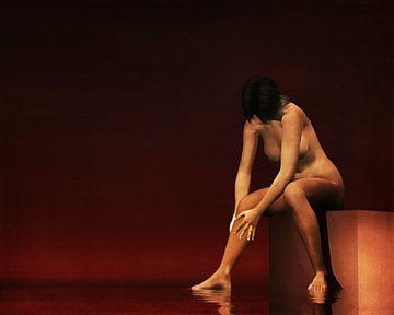 Erotik nackt – nackte Frau, die eine natürliche Intimität zeigt. von Jan Keteleer