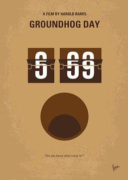 No031 My Groundhog Day minimal movie poster van Chungkong Art