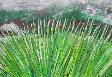 Grasgrün abstrakt van Susanne A. Pasquay