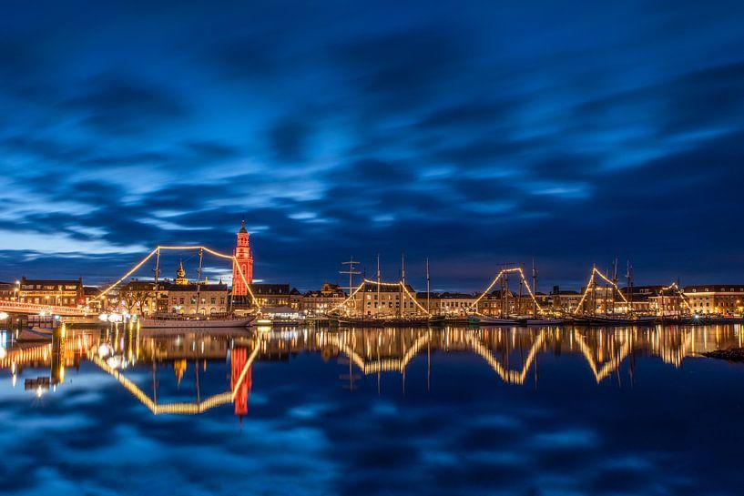 La ville de Kampen avec la flotte brune sur Fotografie Ronald