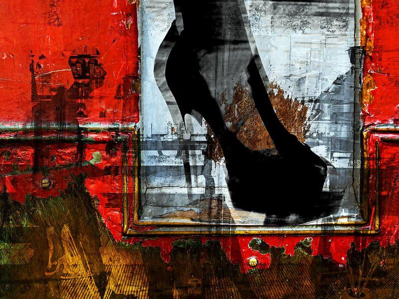 The people and the black shoe van Gabi Hampe