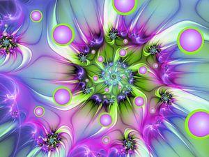 Farbenfrohe Fraktalkunst