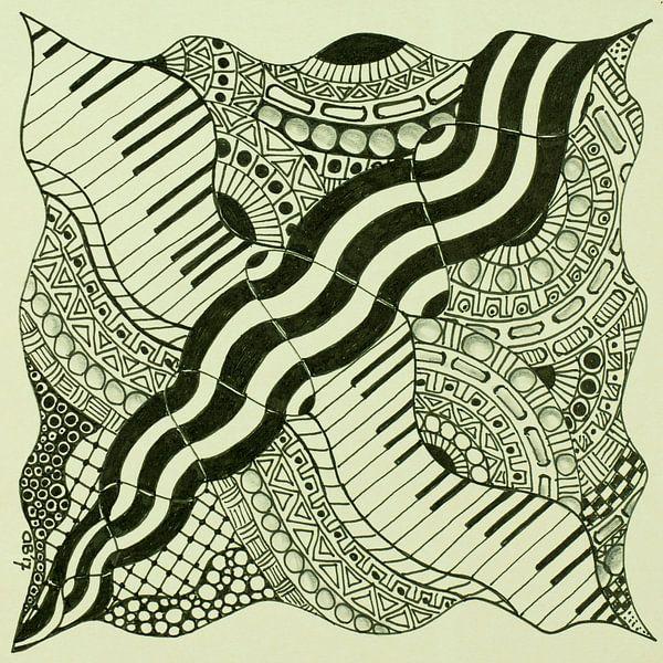 Zentangle Kunst van Anja  Bulté