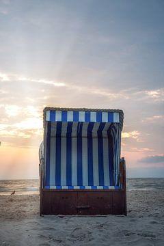 Strandkorb an der Ostseeküste von Sergej Nickel