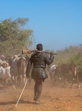 Hirte mit Gewehr in Madagaskar von Jeroen Kleiberg