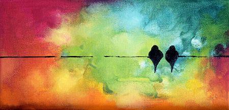 Valentine's Birds 11 von Maria Kitano