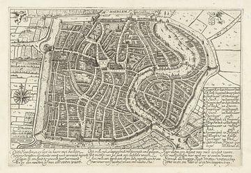 Karte von Haarlem von 1628