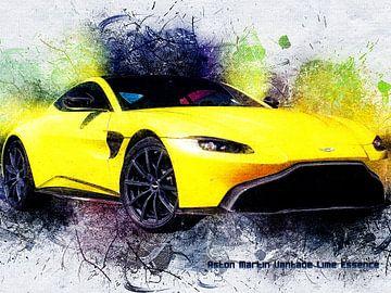 Aston Martin van Printed Artings