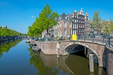 Paysage urbain d'Amsterdam sur le Keizersgracht sur Nisangha Masselink