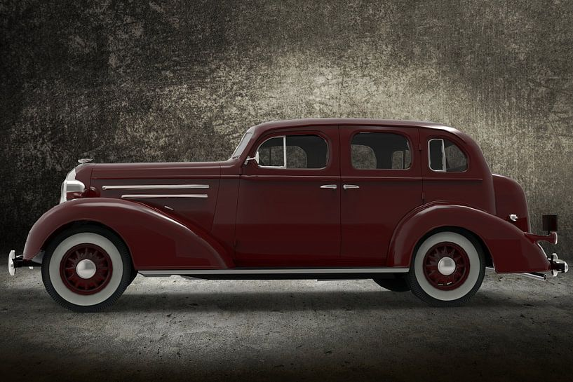1936_AM_Sedan Burgundy colour van H.m. Soetens
