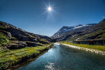 Op de Trollstigen, Noorwegen van Adelheid Smitt
