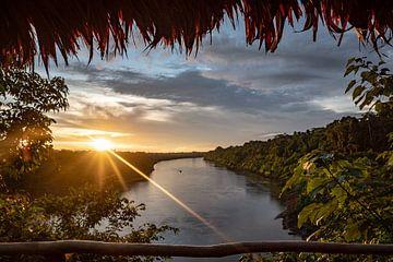 Zonsondergang Junglerivier van Eerensfotografie Renate Eerens