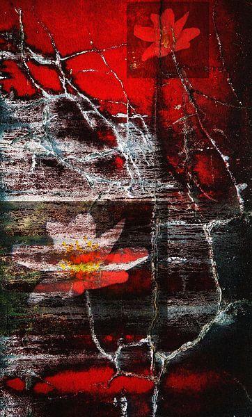 Abstract Bloemen van Iwona Sdunek alias ANOWI