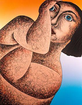 Vrouw Omarmen van Helmut Böhm