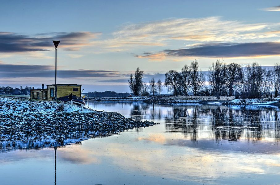 La rivière IJssel en hiver