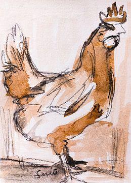 Huhn, Hahn (II) von Liesbeth Serlie