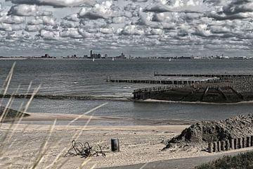 Das Meer bei Breskens in Zeeland von Rijk van de Kaa