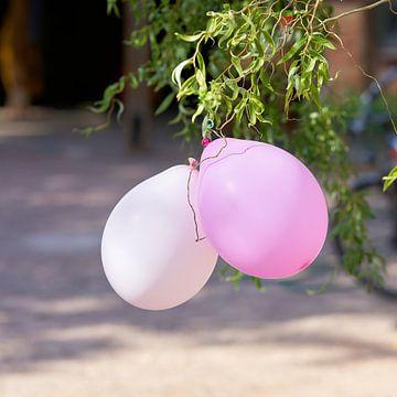 Ballonnen als decoratie op een feestje van Heiko Kueverling
