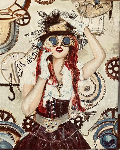 Steampunk Lady van
