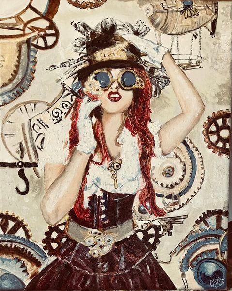 Steampunk Lady van Olivia Valentijn