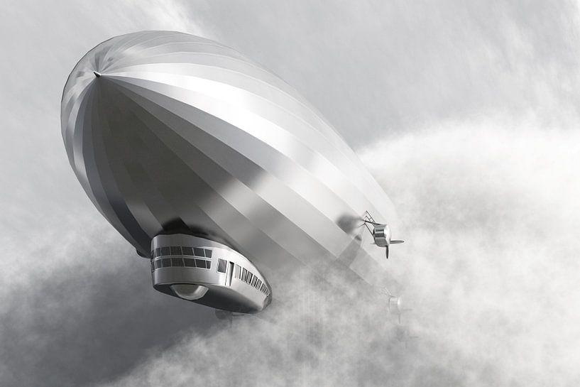 Luchtschip Zeppelin LZ 126 van Max Steinwald
