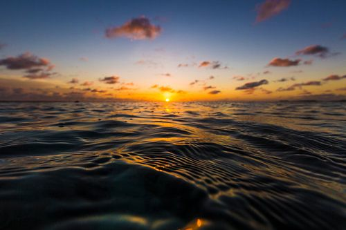 Bonaire zonsondergang van Andy Troy