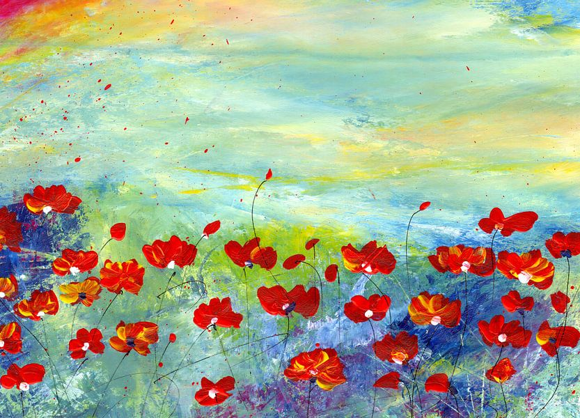 Blumenwiese van Katarina Niksic