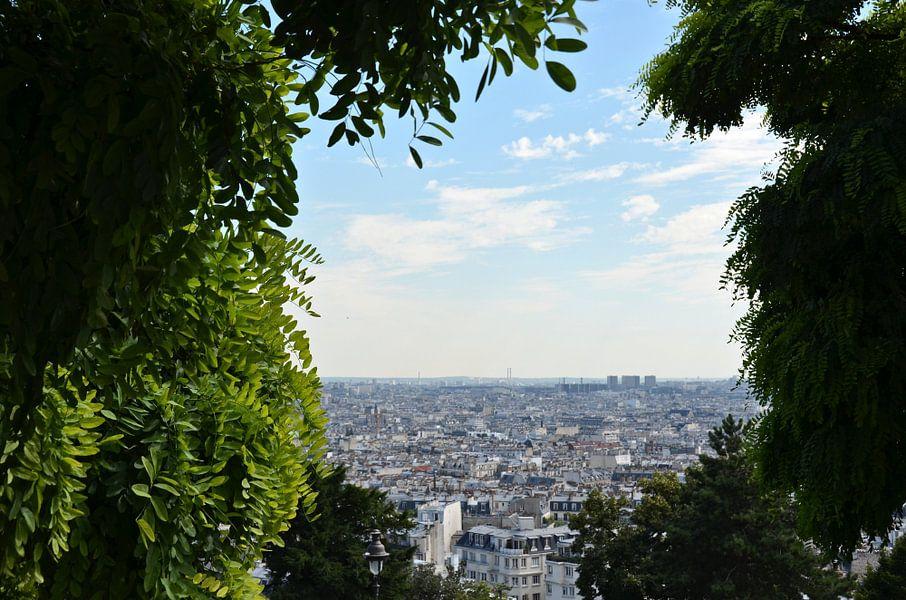 Uitzicht in Parijs van Bo Kramers