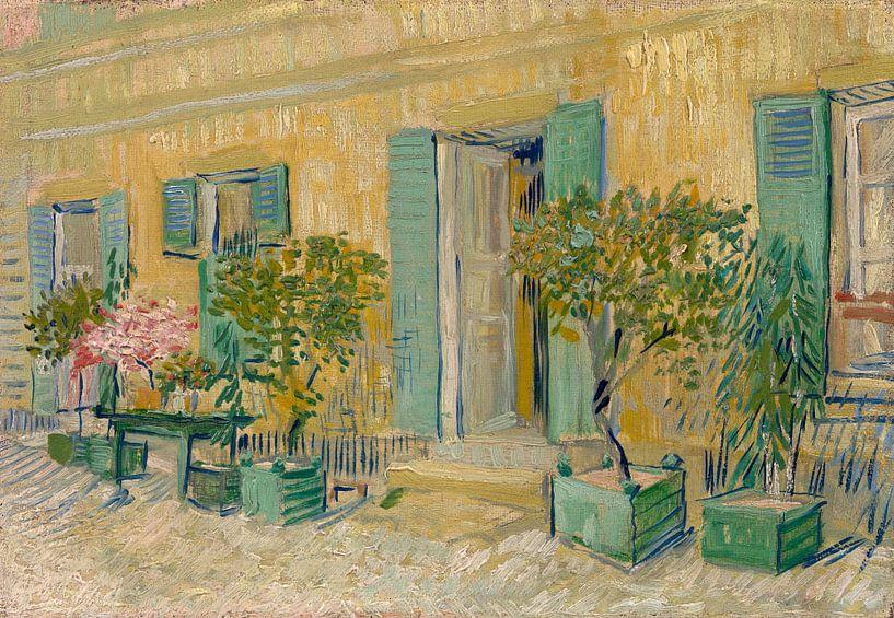 Vincent van Gogh, Voor een restaurant te Asnières van 1000 Schilderijen